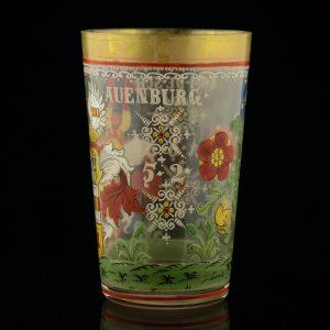 Antiikne käsimaalinguga klaas, 18saj. lõpp
