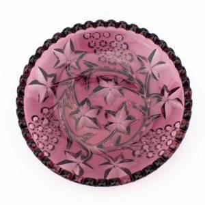Pressklaasist väike alus,lilla varajane Tarbeklaas ~1950a
