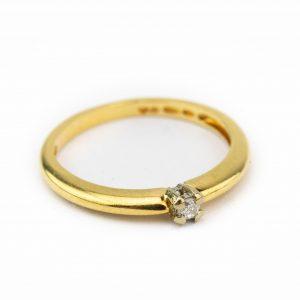 Kuldsõrmus briljandiga, suurus 17 kuld 585