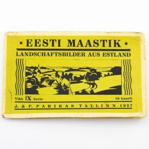 Postkaardi vihik 9 seeria - Eesti maastik - 10 fotot, Parikas 1927