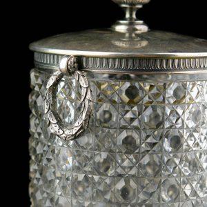 FABERGE jäänõu, hõbe ja kristall, Tsaari-Vene 84 hõbe