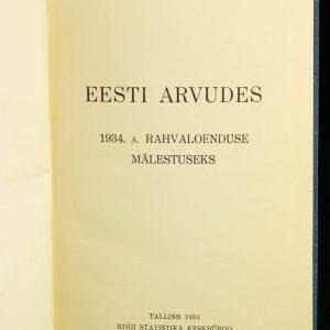 Antiikne raamat Eesti arvudes-1934a. Rahvaloenduse mälestuseks