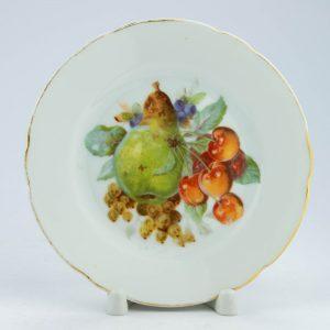 Langebrauni portselanist puuviljadega taldrik,defekt