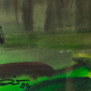 Aleksander Pilar (1912-1989) Maastik Elva akvarell,1986a