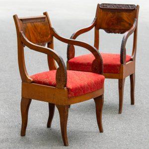 Antiiksed biidermeieri stiilis 2 tooli