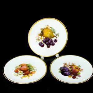 Langebrauni portselanist puuviljadega taldrik 3tk