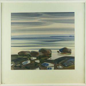 Aleksander Pilar (1912-1989) Meri akvarell,1981a