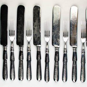 Noad kahvlid, 6-komplekt, metall