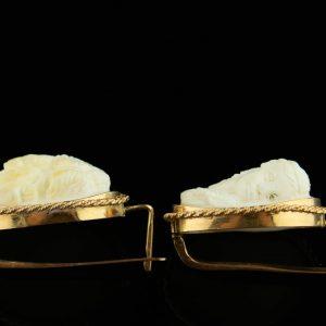 Kõrvarõngad kameega, 583 kuld