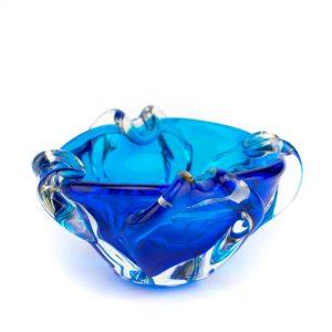 Klaasist ovaalne kauss,sinine