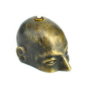 Skulptuurne pronksist õlilamp - Reti pea