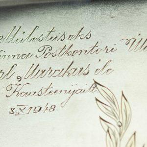 Portsigar, 875 hõbe, graveering - Tallinna Postkontori Ülemale Karl Murakasele