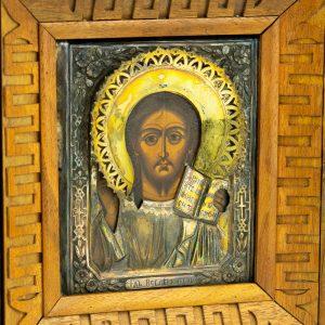 Ikoon Jeesus Kristus Kõigevalitseja, 84 hõbe kate, kastis