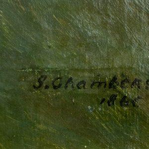 S.Chambers õlimaal Meri ja purjekad 1866