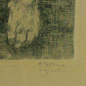 Axel Tallberg 1860-1928 graafika Min granne-Koer Rootsi
