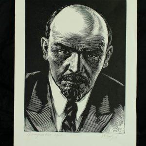 Richard Kaljo (1914-1978) Lenin,puugravüür 1961a