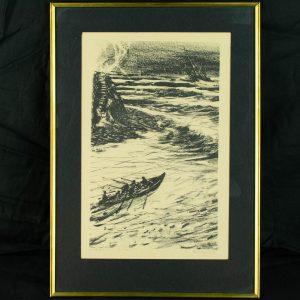 Richard Sagrits (1910-1968) Kalurid 4 pilti, linool 1960a