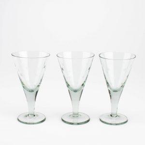 Tarbeklaasi viinaklaasid Hurm 3 tk,Mirjam Maasikas 1960a