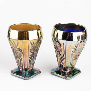 Antiikne lüsterklaasist kann ja 6 klaasi