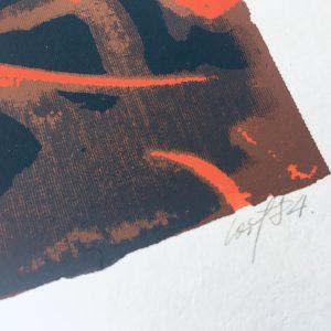 Loit Jõekalda / Vähimuster, serigraafia 1984