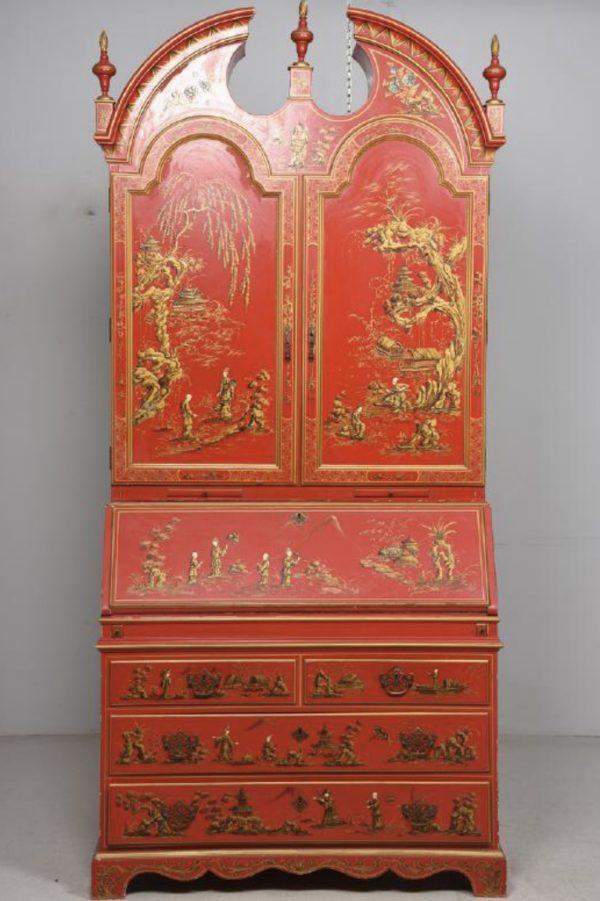 Antiikne Hiina punane sekretärkapp
