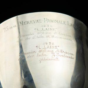 Eesti antiikne hõbedast karikas 75mm Mereväe Parimale Laskjale 1930 S/L Laine