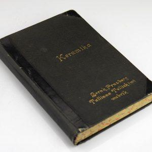 Antiikne raamat Keraamika-Bernh.Pruuberg Tallinna Telliskiwi wabrik 1894a