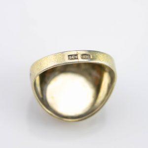 Sõrmus suurus 17,5 hõbe 875 niello
