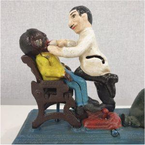 Rahakassa, valuraud, XXsaj. algus - Hambaarst patsiendiga