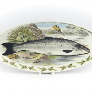 Portselanist kalaga vaagen,Salmon Salmo Salar,Portmeirion