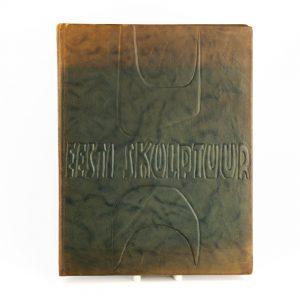 KFK nahkköites raamat Eesti Skulptuur 1967a
