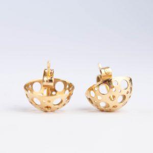 Kõrvarõngad, 585 kuld, Soome disain Liisa Vitali